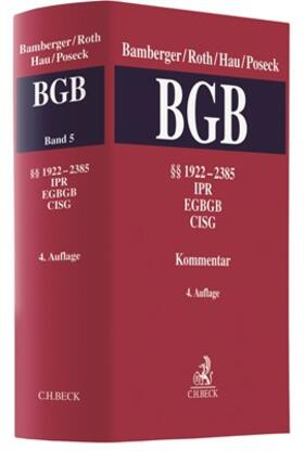 Bürgerliches Gesetzbuch: BGB  Band 5: §§ 1922-2385, CISG, IPR, EGBGB