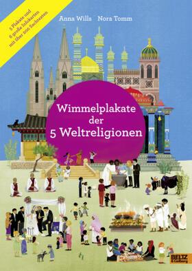 Wimmelplakate der 5 Weltreligionen
