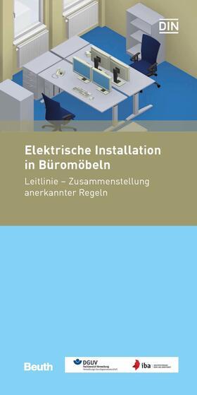 Elektrische Installation in Büromöbeln
