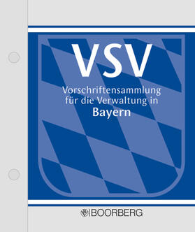 Kollmannsberger / Knoblauch / Brandhuber | Vorschriftensammlung für die Verwaltung in Bayern - VSV Ergänzungsband | Loseblattwerk