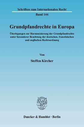 Kircher | Grundpfandrechte in Europa | Buch