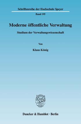 König | Moderne öffentliche Verwaltung. | Buch