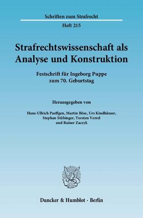 Strafrechtswissenschaft als Analyse und Konstruktion