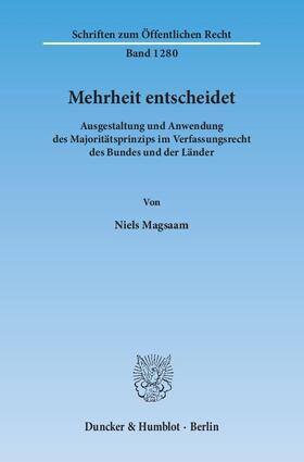 Magsaam | Mehrheit entscheidet | Buch