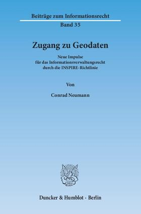 Neumann | Zugang zu Geodaten | Buch