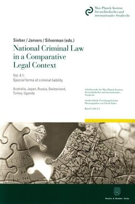 Sieber / Jarvers / Silverman | National Criminal Law in a Comparative Legal Context | Buch
