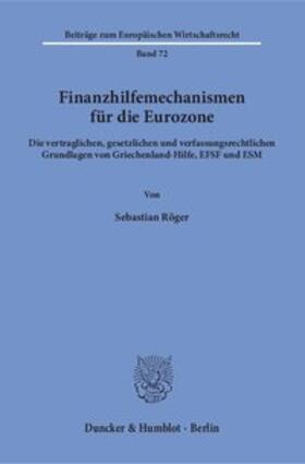 Finanzhilfemechanismen für die Eurozone.