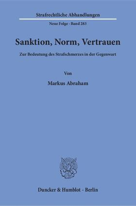 Sanktion, Norm, Vertrauen