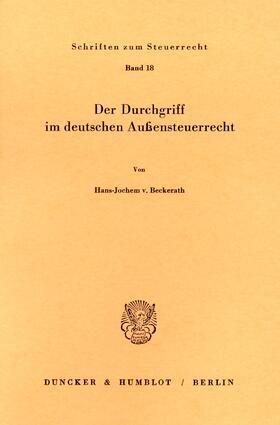 Der Durchgriff im deutschen Außensteuerrecht