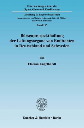 Börsenprospekthaftung der Leitungsorgane von Emittenten in Deutschland und Schweden