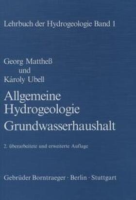Allgemeine Hydrologie - Grundwasserhaushalt