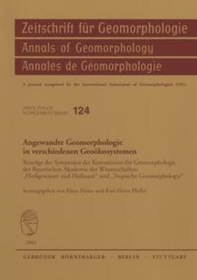 Angewandte Geomorphologie in verschiedenen Geoökosystemen