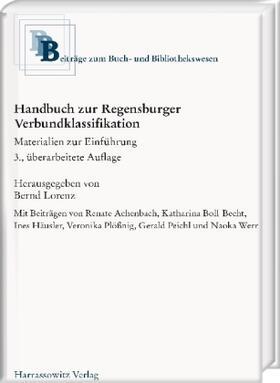 Handbuch zur Regensburger Verbundklassifikation