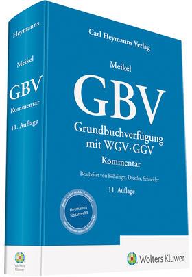 Meikel | Grundbuchverfügung: GBV mit WGV und GGV | Buch