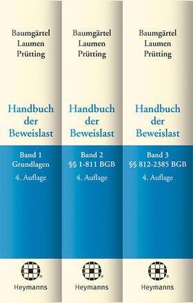 Baumgärtel / Laumen / Prütting   Handbuch der Beweislast (Bundle Bände 1-3)   Buch
