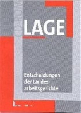 Entscheidungen der Landesarbeitsgerichte (LAGE)