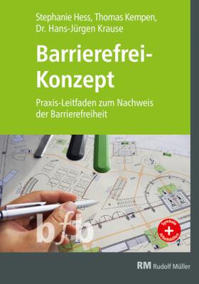 Hess/Kempen/Krause | Barrierefrei-Konzept | Buch