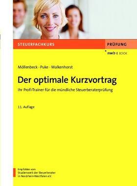 Möllenbeck / Puke / Richter | Der optimale Kurzvortrag | E-Book