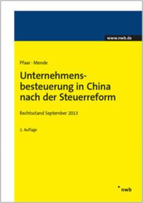 Unternehmensbesteuerung in China nach der Steuerreform