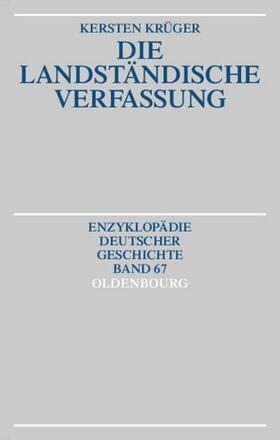 Krüger   Die Landständische Verfassung   Buch