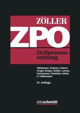 Zöller | Zivilprozessordnung: ZPO | Buch