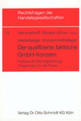 Der qualifizierte faktische GmbH-Konzern