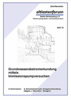 Grundwasserabstromerkundung mittels Immissionspumpversuchen