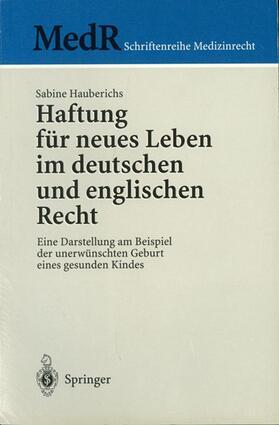 Hauberichs | Haftung für neues Leben im deutschen und englischen Recht | Buch