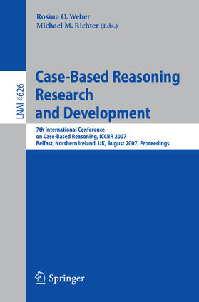 Weber / Richter | Case-Based Reasoning Research and Development | Buch