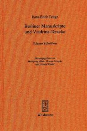 Berliner Manuskripte und Viadrina-Drucke
