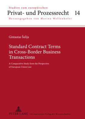 Sulija | Standard Contract Terms in Cross-Border Business Transactions | Buch