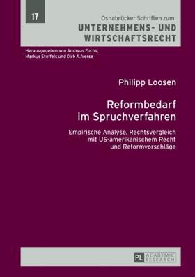 Loosen | Reformbedarf im Spruchverfahren | Buch