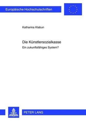 Klabun | Die Künstlersozialkasse | Buch