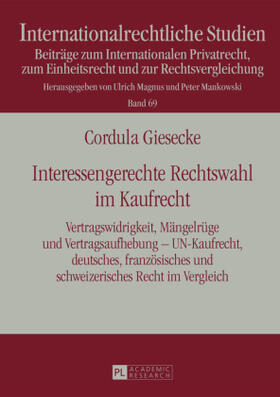 Giesecke | Interessengerechte Rechtswahl im Kaufrecht | Buch