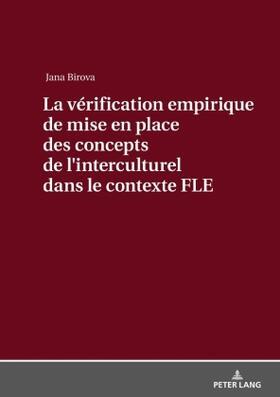 La vérification empirique de mise en place des concepts de l'interculturel dans le contexte FLE