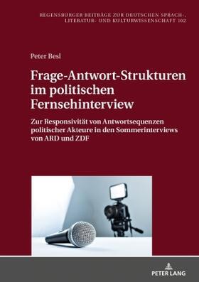 Frage-Antwort-Strukturen im politischen Fernsehinterview