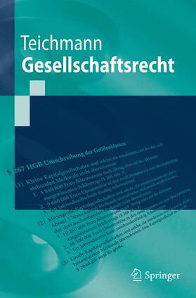 Teichmann   Gesellschaftsrecht   Buch