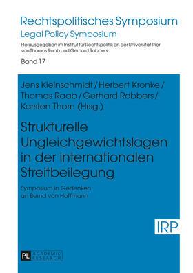 Strukturelle Ungleichgewichtslagen in der internationalen Streitbeilegung