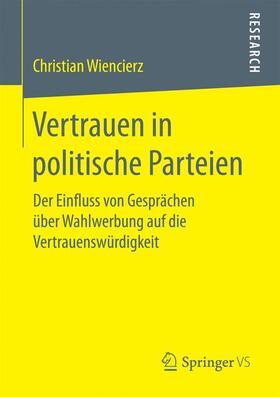 Wiencierz | Vertrauen in politische Parteien | Buch