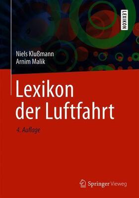 Klußmann / Malik   Lexikon der Luftfahrt   Buch