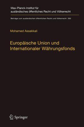 Assakkali | Europäische Union und Internationaler Währungsfonds | Buch