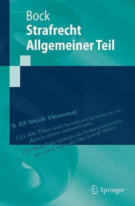 Bock | Strafrecht Allgemeiner Teil | Buch