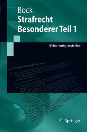 Bock | Strafrecht Besonderer Teil 1 | Buch