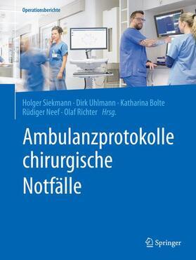Ambulanzprotokolle chirurgische Notfälle