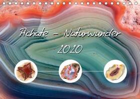 Achate - Naturwunder (Tischkalender 2020 DIN A5 quer)