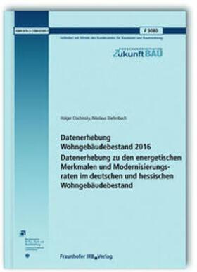 Datenerhebung Wohngebäudebestand 2016.