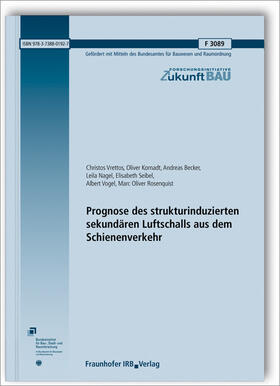 Prognose des strukturinduzierten sekundären Luftschalls aus dem Schienenverkehr. Abschlussbericht.