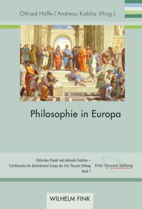 Höffe / Kablitz | Philosophie in Europa | Buch