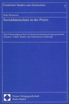Rasmussen   Sozialdatenschutz in der Praxis   Buch