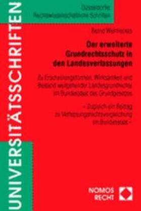 Wermeckes | Der erweiterte Grundrechtsschutz in den Landesverfassungen | Buch